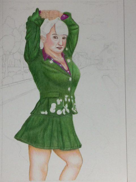 色鉛筆 ジョジョ立ちイラスト メイキング