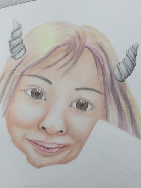 色鉛筆 バレンタイン 女の子 小悪魔 メイキング